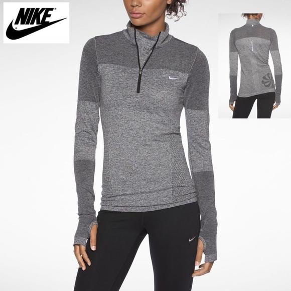 65d54419 Nike Tops   Womens Drifit Half Zip Knit Long Sleeve Top   Poshmark